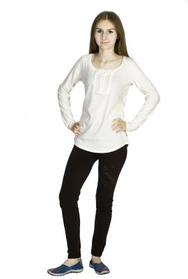 Dream of Glory Inc. Casual Full Sleeve Solid Women's White Top