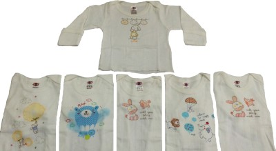 Zero Casual Full Sleeve Printed Baby Girl's Multicolor Top
