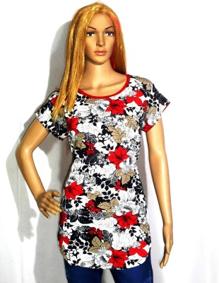 umesh fashion Casual Short Sleeve Floral Print Women's Multicolor Top
