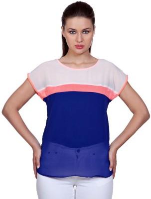 Stylestone Casual, Formal, Lounge Wear, Beach Wear, Party Short Sleeve Solid Women's Multicolor Top