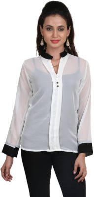 Big Tree Casual Full Sleeve Solid Women's White Top