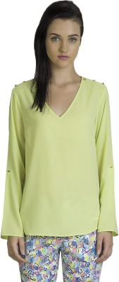 Vivante by VSA Casual Full Sleeve Solid Women's Yellow Top