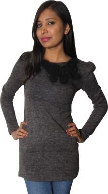 Modo Vivendi Casual Full Sleeve Solid Women's Grey Top
