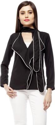 Stylestone Casual, Formal, Lounge Wear, Beach Wear, Party Full Sleeve Solid Women's Black Top