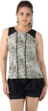 Unicolr Casual Sleeveless Floral Print W...
