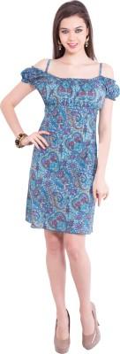 Tuntuk Women's A-line Blue Dress