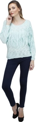 Pab Jules Casual Full Sleeve Solid Women's Light Green Top