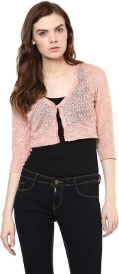 Avirate Casual Full Sleeve Self Design Women's Pink Top