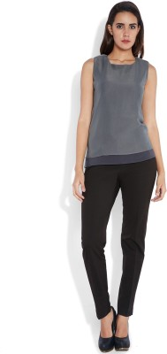 Park Avenue Formal Sleeveless Solid Women's Grey Top