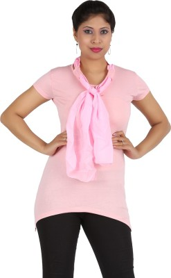 Harsha Casual Short Sleeve Solid Women's Pink Top