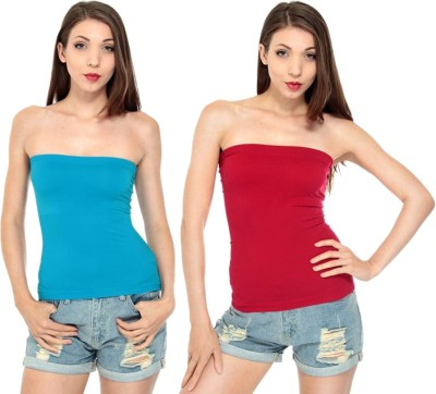 Amoya Casual Sleeveless Solid Women's Multicolor Top