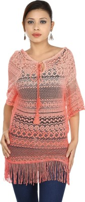 Maggie Casual Short Sleeve Woven Women's Orange Top