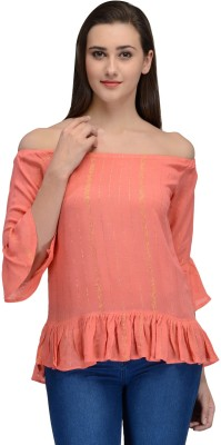 Onemm Party Sleeveless Solid Women's Pink Top