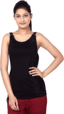 Outré Casual Sleeveless Solid Women's Black Top