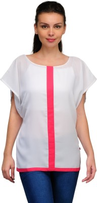Tops and Tunics Casual Butterfly Sleeve Solid Women's White, Pink Top