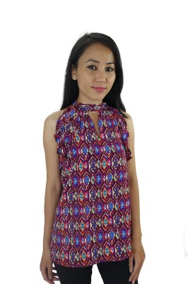 ShopMore Casual Sleeveless Printed Women's Multicolor Top