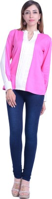 InBlue Fashions Party Full Sleeve Solid Women's Pink Top