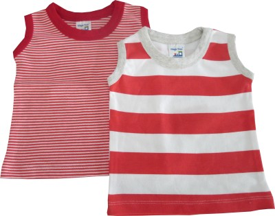 Magic Train Casual Sleeveless Striped Girl's Red, White Top