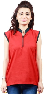 Ambitione Women,s, Girl's Solid Casual Red Shirt