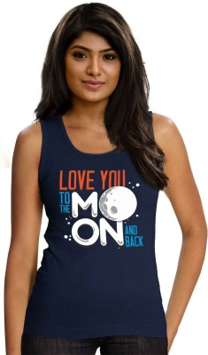Wear Your Opinion Casual Sleeveless Printed Women,s Blue Top