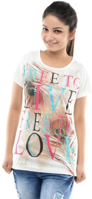 Sweet Touch Casual Short Sleeve Printed Women's Beige Top