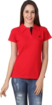 Yati Casual Short Sleeve Solid Women's Red Top