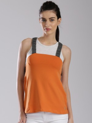 HRX by Hrithik Roshan Casual Sleeveless Solid Women's White Top