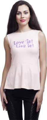 Five Stone Casual Sleeveless Printed Girl's Pink Top