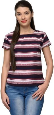 Vemero Casual Short Sleeve Geometric Print Women's Multicolor Top