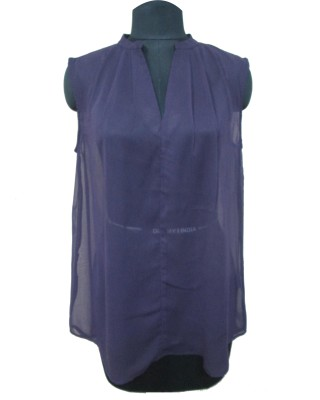 I Am For You Casual Sleeveless Solid Women's Purple Top