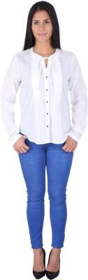 Fashionwardrobe Casual Full Sleeve Solid Women,s White Top