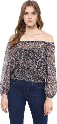 SKIDLERS Casual Full Sleeve Floral Print Women's Multicolor Top