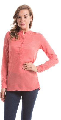 Prym Casual Full Sleeve Solid Women's Red Top