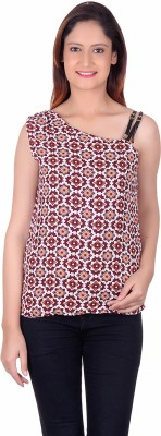 Sellsy Casual Noodle strap Floral Print Women's Multicolor Top