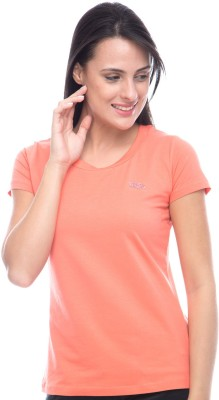 Virsa Casual Short Sleeve Solid Women,s Pink Top