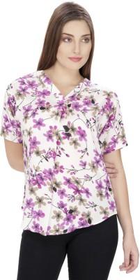 Ihastrenz Casual Short Sleeve Printed Women's Multicolor Top