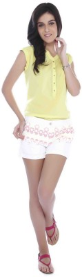 Miss Pink Casual Cap sleeve Solid Girl's Green Top