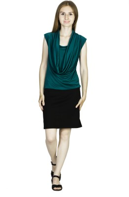 Dream of Glory Inc. Party Sleeveless Solid Women's Dark Green Top