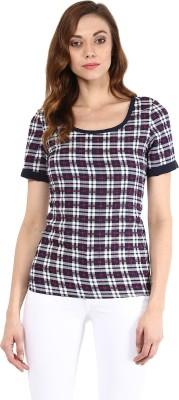 Seeyaar Casual Short Sleeve Geometric Print Women's Multicolor Top
