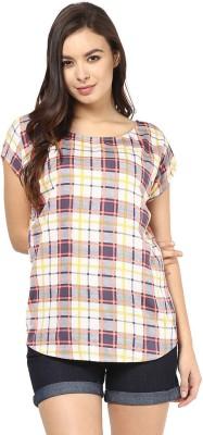 Abiti Bella Casual Short Sleeve Printed Women's Beige Top