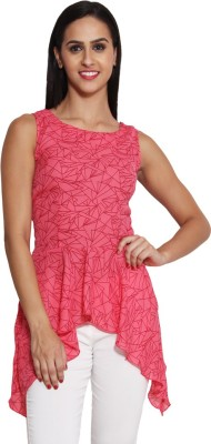 Panit Casual Sleeveless Geometric Print Women,s Pink, Red Top