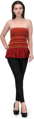 Maxi Fashion Casual Sleeveless Solid Women's Maroon Top