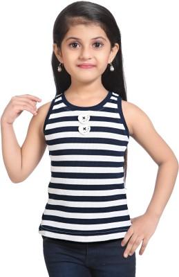 Triki Party Sleeveless Striped Girl's Blue Top