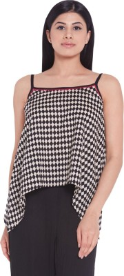 Globus Casual Sleeveless Checkered Women's Multicolor Top