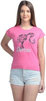 Barbie Casual Short Sleeve Printed Women's Pink Top