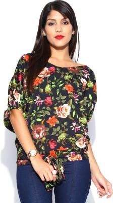Noble Faith Casual Short Sleeve Printed Women's Multicolor Top