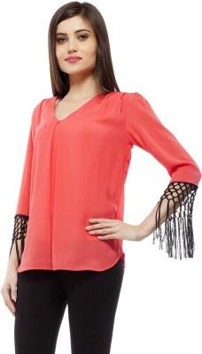 Stylestone Casual, Formal, Lounge Wear, Beach Wear, Party Full Sleeve Solid Women's Pink Top