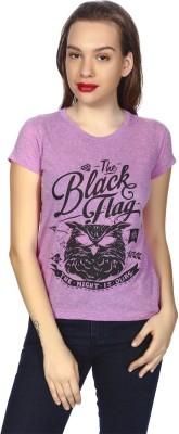 karney Casual Short Sleeve Printed Girl's Purple Top