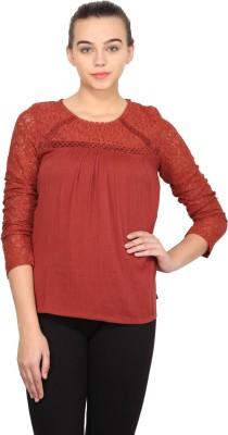 Nordic Bazaar Casual Full Sleeve Solid Women's Red Top