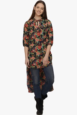 Fugue Casual 3/4th Sleeve Printed Women's Multicolor Top at flipkart